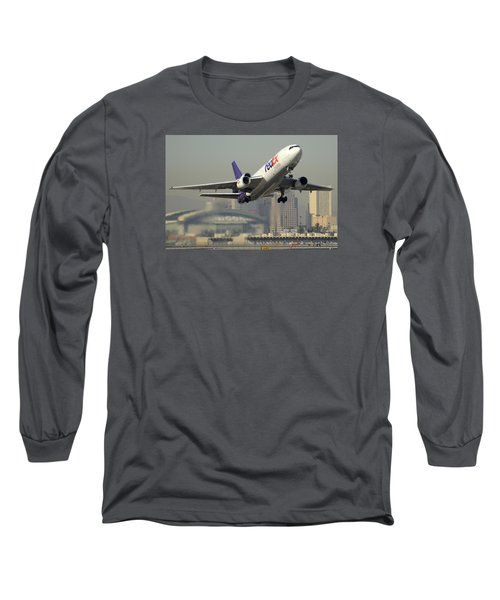 Fedex Express Md-10-10f N10060 Phoenix Sky Harbor December 2 2015 Long Sleeve T-Shirt