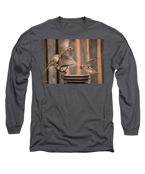 Feeding Finches Long Sleeve T-Shirt