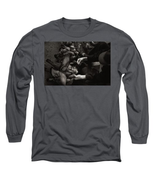 Feeding The Pigeons Long Sleeve T-Shirt