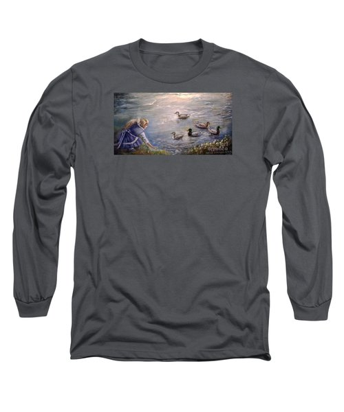 Feeding Time Long Sleeve T-Shirt by Patricia Schneider Mitchell