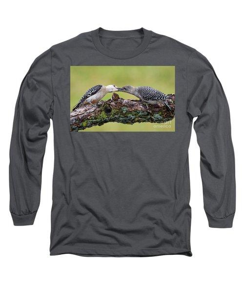 Feeding Time Long Sleeve T-Shirt by Ricky L Jones