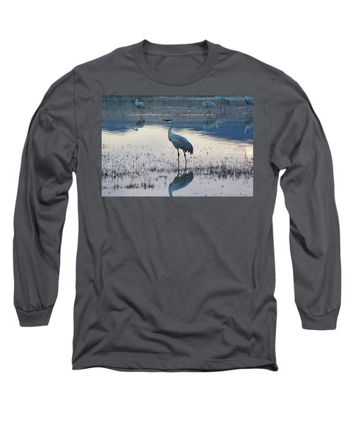 Long Sleeve T-Shirt featuring the pyrography Feeling Blue by Michael Lucarelli