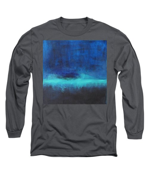 Long Sleeve T-Shirt featuring the painting Feeling Blue by Nicole Nadeau