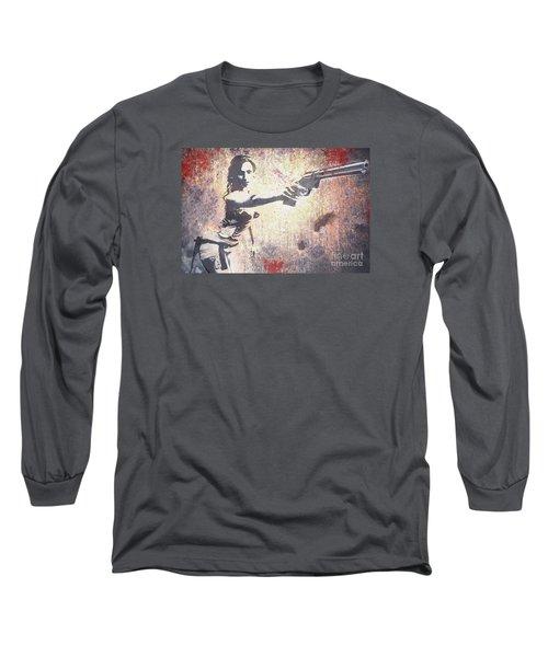 Feeling Lucky? Long Sleeve T-Shirt by David Bazabal Studios
