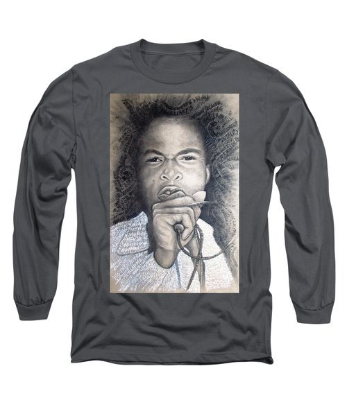Fela  For Ever Lives Afrika Long Sleeve T-Shirt by Bankole Abe