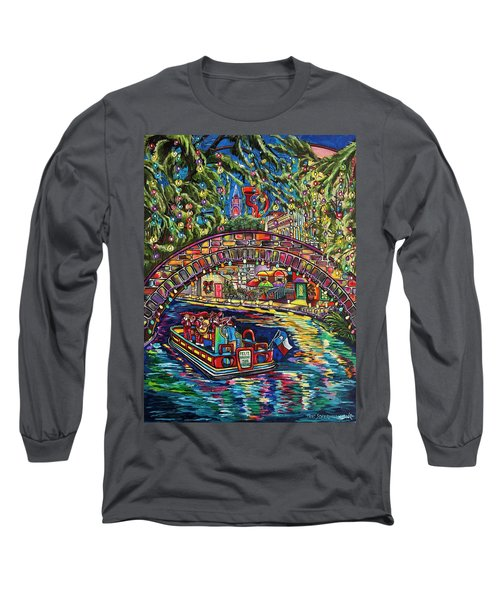 Feliz Navidad San Antonio Long Sleeve T-Shirt by Patti Schermerhorn