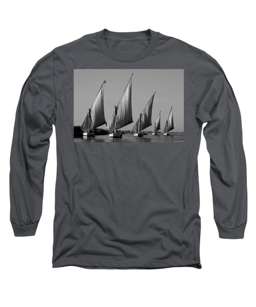 Feluccas On River Nile Long Sleeve T-Shirt