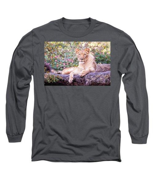 Female Lion Resting Long Sleeve T-Shirt