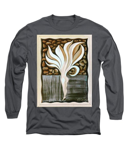 Long Sleeve T-Shirt featuring the painting Female Petal by Fei A