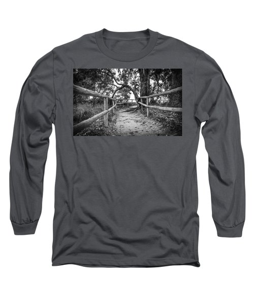 Fenced Pathway. Long Sleeve T-Shirt