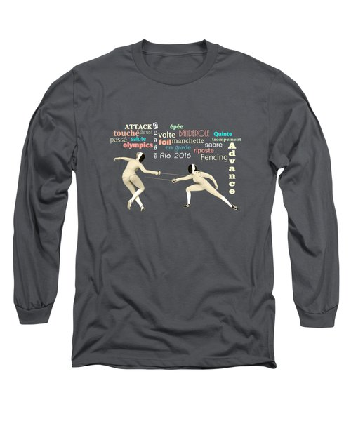 Fencing Duo Long Sleeve T-Shirt by Methune Hively