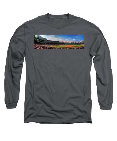 Fenway Park Panoramic - Boston Long Sleeve T-Shirt