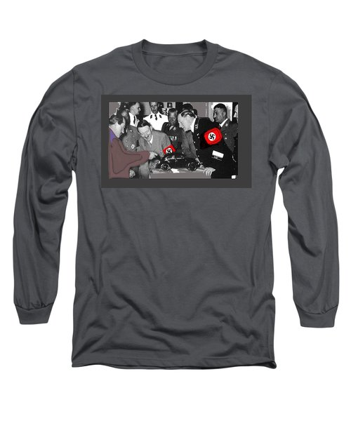 Ferdinand Porsche Showing The Prototype Of The Vw Beetle To Adolf Hitler 1935-2015 Long Sleeve T-Shirt