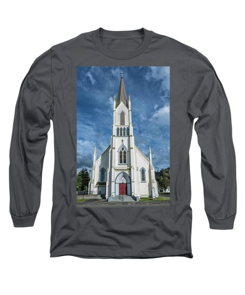 Long Sleeve T-Shirt featuring the photograph Ferndale Catholic Church by Greg Nyquist