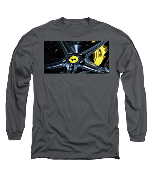 Ferrari Wheel I Long Sleeve T-Shirt