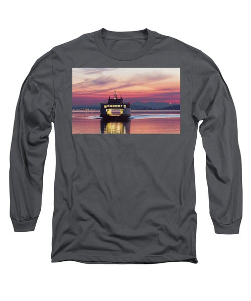 Ferry Issaquah Docking At Dawn Long Sleeve T-Shirt by E Faithe Lester