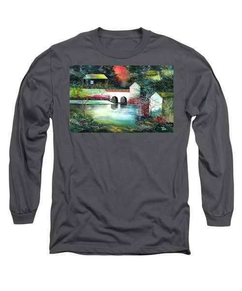 Long Sleeve T-Shirt featuring the painting Festival Of Lights by Anil Nene