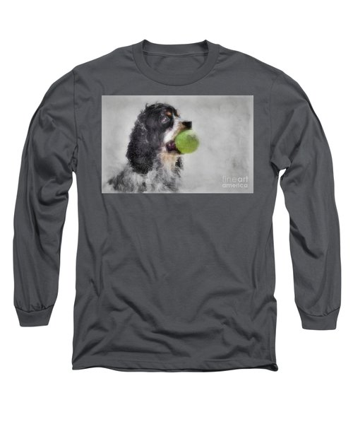Long Sleeve T-Shirt featuring the photograph Fetching Cocker Spaniel  by Benanne Stiens
