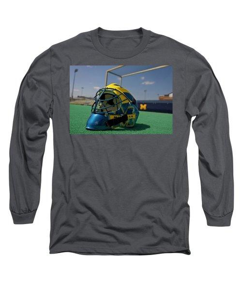 Field Hockey Helmet Long Sleeve T-Shirt