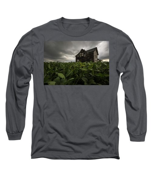 Long Sleeve T-Shirt featuring the photograph Field Of Beans/dreams by Aaron J Groen