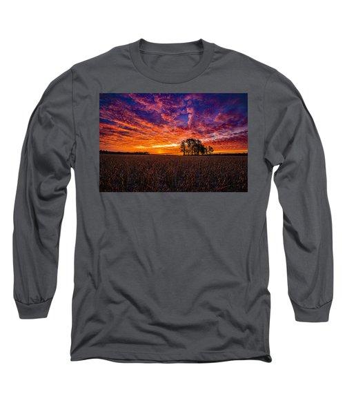 Fiery Dawn At Center Grove Long Sleeve T-Shirt