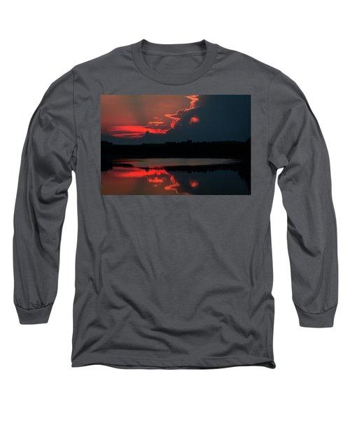 Fiery Evening Long Sleeve T-Shirt