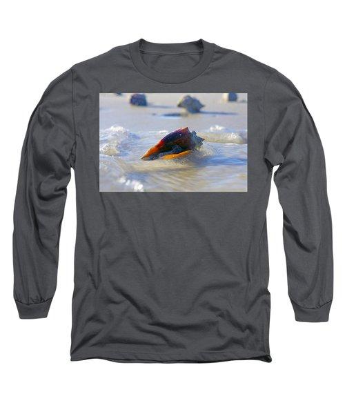 Fighting Conch On Beach Long Sleeve T-Shirt