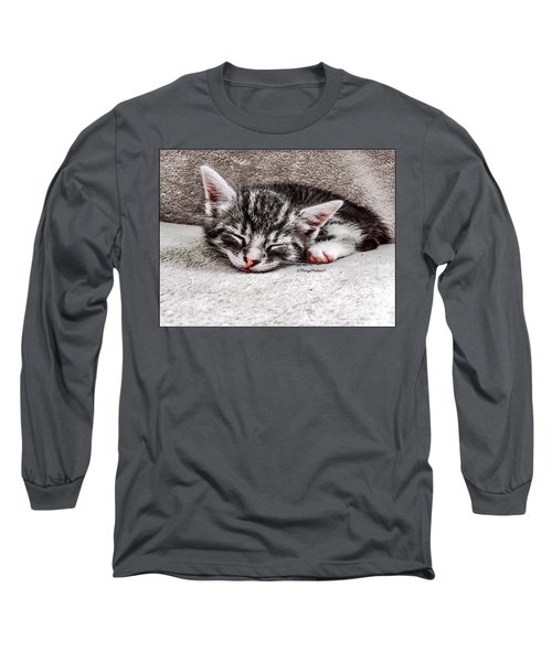 Finally Asleep  Copyright Mary Lee Parker 17  Long Sleeve T-Shirt by MaryLee Parker