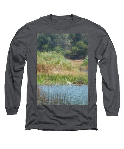 Finnon Lake Egret Long Sleeve T-Shirt