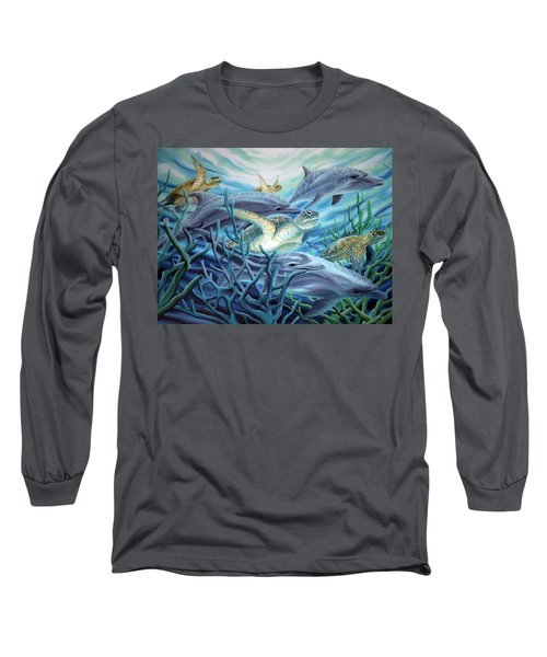 Fins And Flippers Long Sleeve T-Shirt
