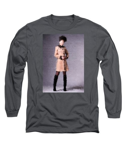 Long Sleeve T-Shirt featuring the digital art Fiona by Nancy Levan