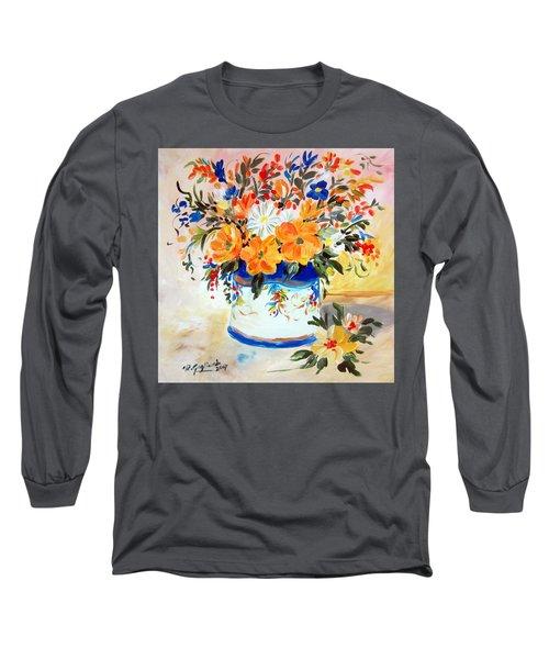 Fiori Gialli Natura Morta Long Sleeve T-Shirt