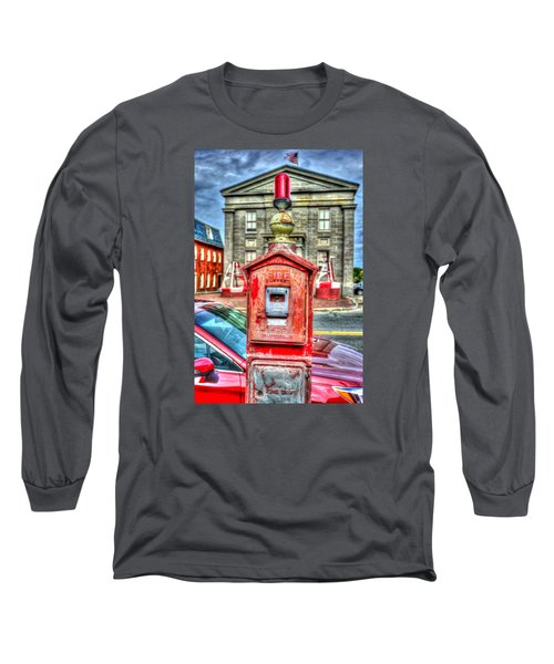 Fire Alarm Box 375 In Painterly Long Sleeve T-Shirt