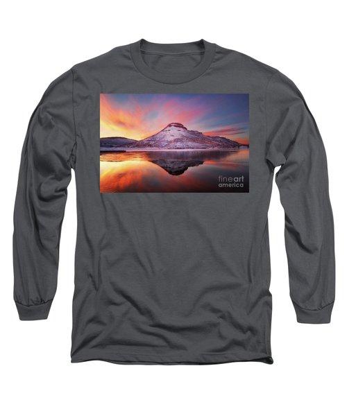 Fire And Ice - Flatiron Reservoir, Loveland Colorado Long Sleeve T-Shirt