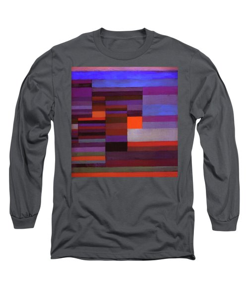 Fire In The Evening Long Sleeve T-Shirt by Paul Klee