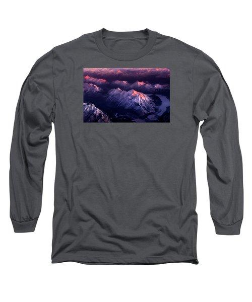 Fire In Ice Long Sleeve T-Shirt by John Poon
