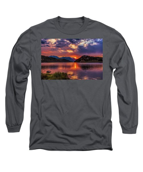 Fire On The Water Reflections Long Sleeve T-Shirt