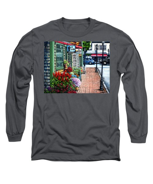 Firefly Lane Bar Harbor Maine Long Sleeve T-Shirt by Eileen Patten Oliver