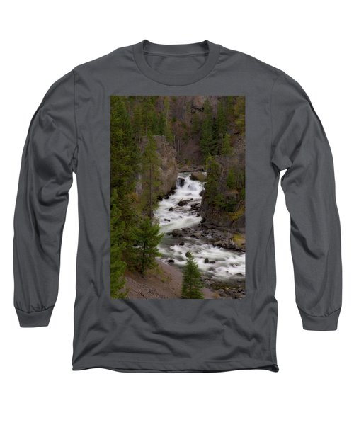 Long Sleeve T-Shirt featuring the photograph Firehole Canyon by Steve Stuller