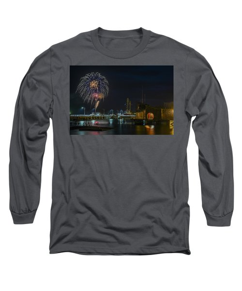 Fireworks And 17th Street Docks Long Sleeve T-Shirt