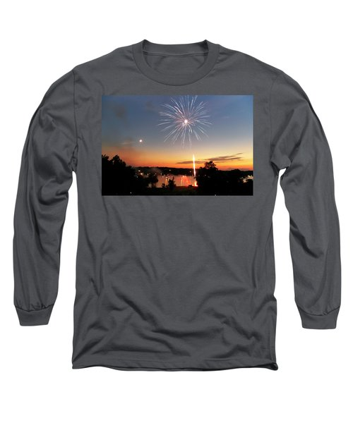 Fireworks And Sunset Long Sleeve T-Shirt