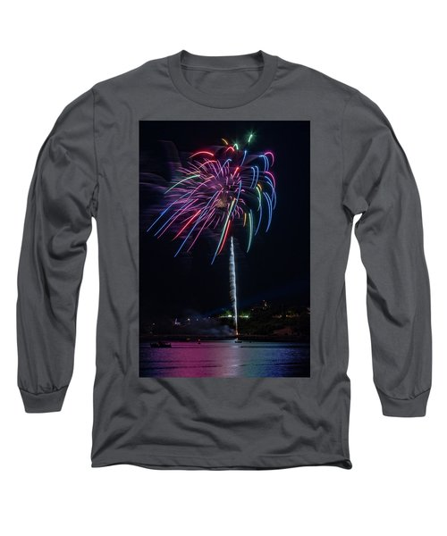 Fireworks Over Portland, Maine Long Sleeve T-Shirt