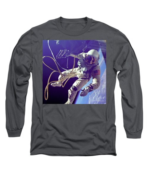 First American Walking In Space, Edward Long Sleeve T-Shirt