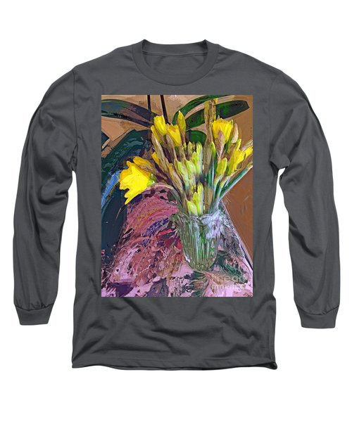 First Daffodils Long Sleeve T-Shirt by Alexis Rotella