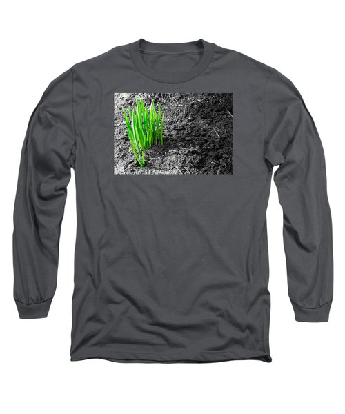 First Green Shoots Of Spring And Dirt Long Sleeve T-Shirt by John Williams