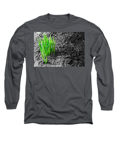 First Green Shoots Of Spring And Dirt Long Sleeve T-Shirt