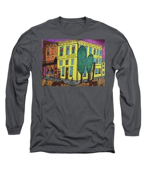 First National Hotel. Historic Menominee Art. Long Sleeve T-Shirt