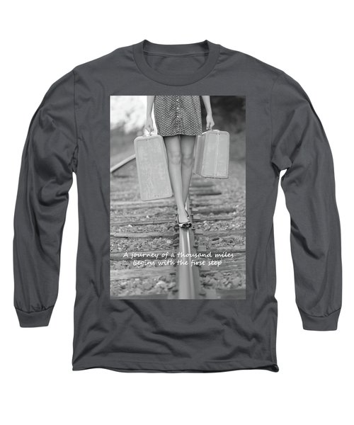 Long Sleeve T-Shirt featuring the photograph First Step by Barbara West