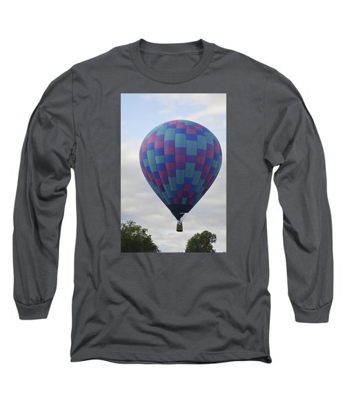 First To Take Off For The Atlantic Long Sleeve T-Shirt by Linda Geiger