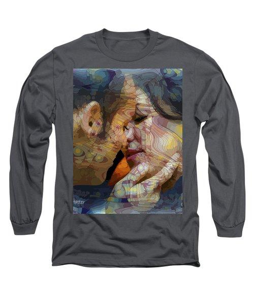 First Kiss Long Sleeve T-Shirt by Moustafa Al Hatter
